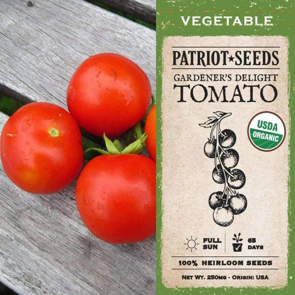 Organic Gardener's Delight Tomato Seeds (250mg) - My Patriot Supply