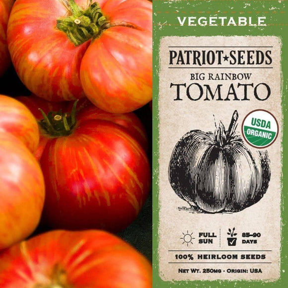 Organic Big Rainbow Tomato Seeds (250mg) - My Patriot Supply