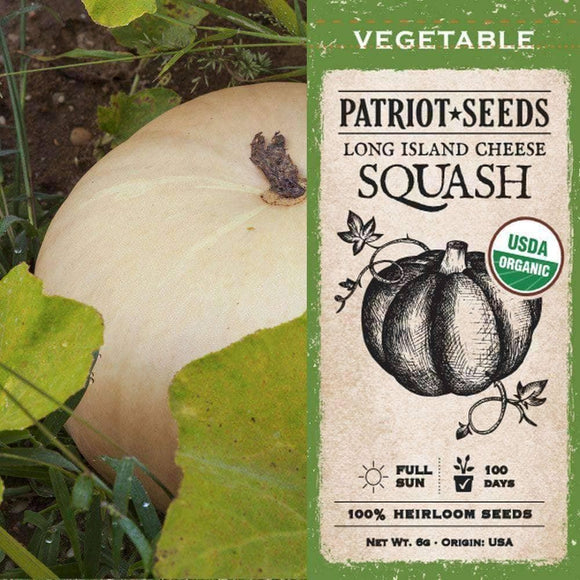 Organic Long Island Cheese Winter Squash Seeds (6g) - My Patriot Supply