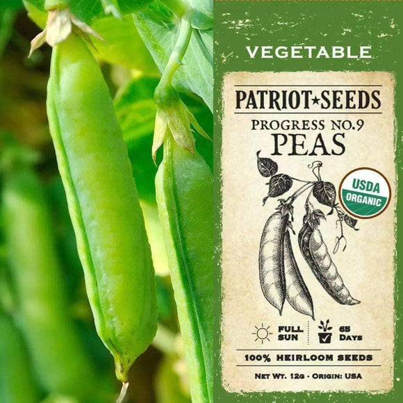 Organic Progress No. 9  Pea Seeds (12g)