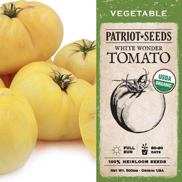 Organic White Wonder Tomato Seeds (500mg) - My Patriot Supply