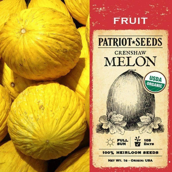 Organic Crenshaw Melon Seeds (1g) - My Patriot Supply