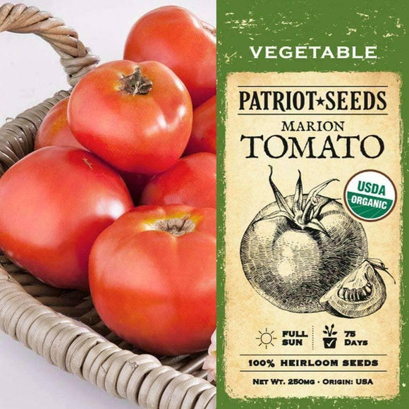 Organic Marion Tomato Seeds (250mg) - My Patriot Supply