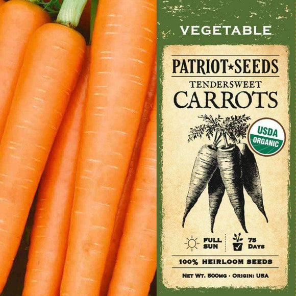 Organic Tendersweet Carrot Seeds (500mg) - My Patriot Supply