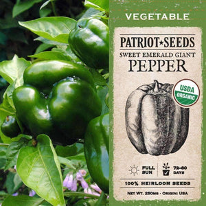 Organic Sweet Emerald Giant Pepper Seeds (250mg) - My Patriot Supply