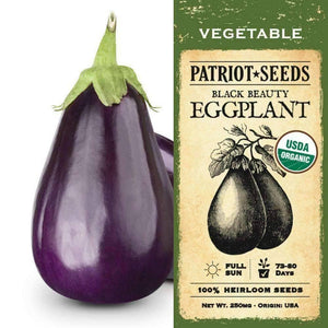 Organic Black Beauty Eggplant Seeds (250mg) - My Patriot Supply