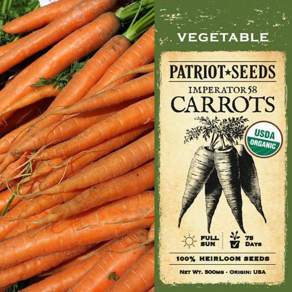Organic Imperator Carrot Seeds (500mg)