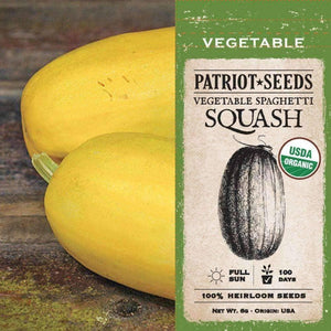 Organic Vegetable Spaghetti Winter Squash Seeds (6g) - My Patriot Supply