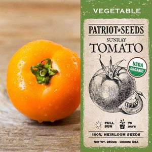 Organic Sunray Tomato Seeds (250mg) - My Patriot Supply