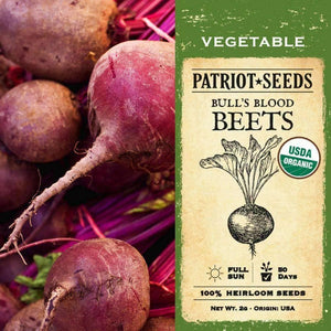 Organic Bull's Blood Beet Seeds (2g) - My Patriot Supply