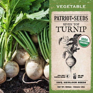 Organic Seven Top Turnip Seeds (500mg) - My Patriot Supply