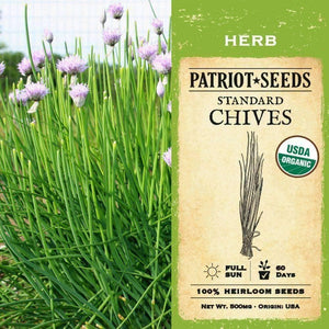 Organic Standard Chive Herb Seeds (500mg) - My Patriot Supply