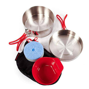 Stainless Steel Mess Cooking Kit (5 piece)