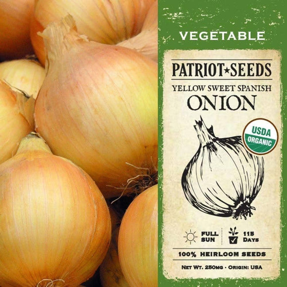 Organic Yellow Sweet Spanish Onion Seeds (500mg) - My Patriot Supply