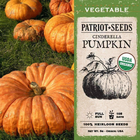 Organic Cinderella Pumpkin Seeds (5g) - My Patriot Supply