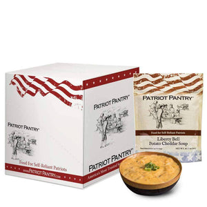 Liberty Bell Potato Cheddar Soup Case Pack (32 servings, 8 pk.) - My Patriot Supply