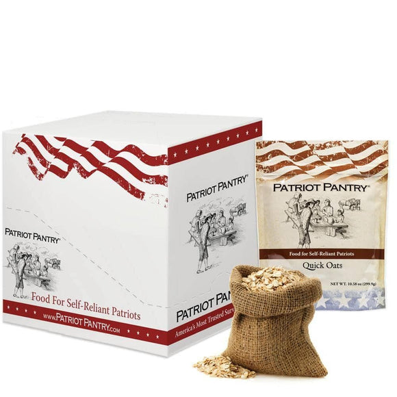 Quick Rolled Oats Case Pack (48 servings, 8 pk.) - My Patriot Supply