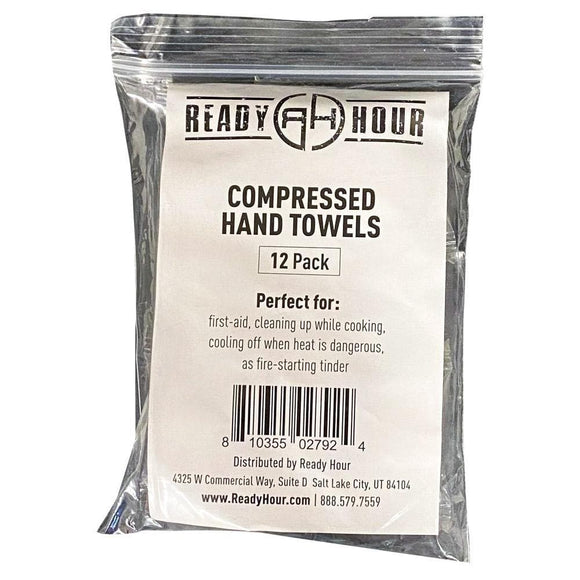 Compressed Disposable Hand Towels (12 pack) - My Patriot Supply