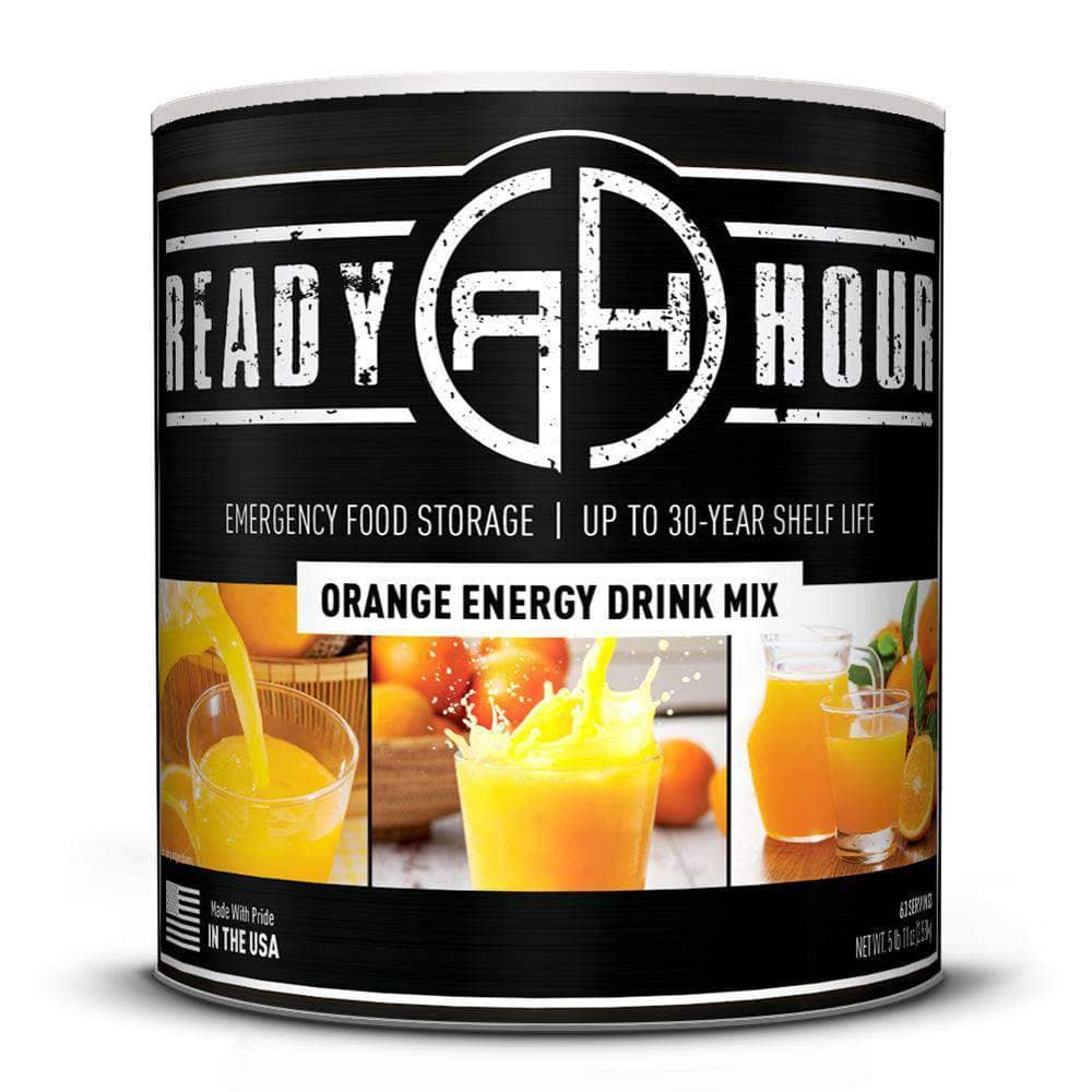 Orange Energy Drink Mix 63 Servings Ready Hour My