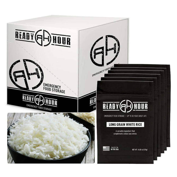 Long Grain White Rice Case Pack (60 servings, 6 pk.) - My Patriot Supply