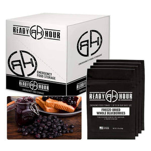Freeze-Dried Blueberries Case Pack (32 servings, 4 pk.) - My Patriot Supply