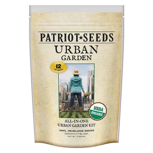 Organic Urban Garden Seed Kit (12 packets inside) - My Patriot Supply
