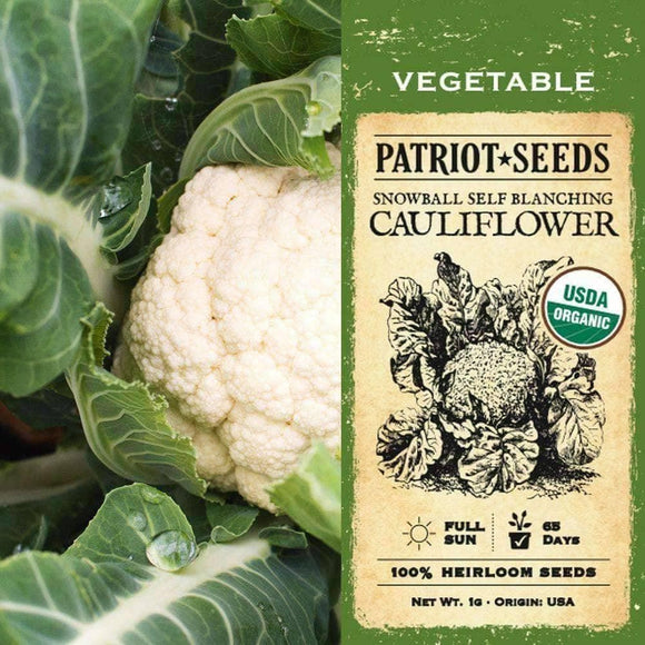 Organic Snowball Self-Blanching Cauliflower Seeds (1g) - My Patriot Supply