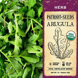Organic Arugula Herb Seeds (1g) - My Patriot Supply