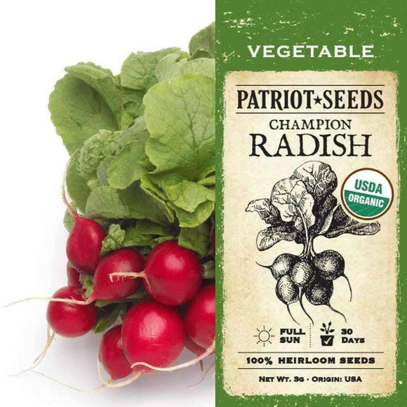 Organic Champion Radish Seeds (3g) - My Patriot Supply