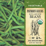 Organic Blue Lake Bush Beans (30g) - My Patriot Supply