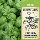 Organic Genovese Basil Herb Seeds (500mg) - My Patriot Supply