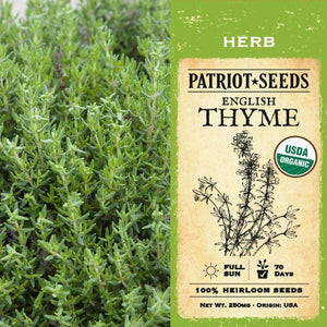 Organic English Thyme Herb Seeds (250mg) - My Patriot Supply