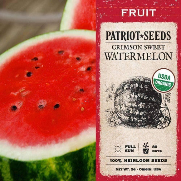 Organic Crimson Sweet Watermelon Seeds (2g)