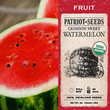 Organic Crimson Sweet Watermelon Seeds (2g) - My Patriot Supply