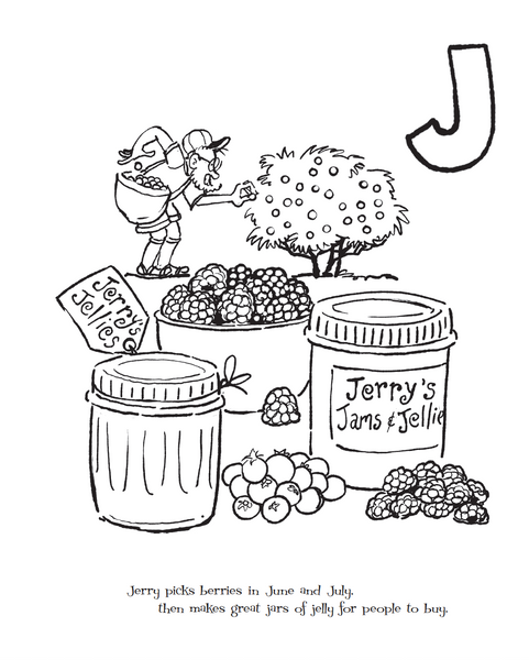 New! Frieda B.'s ABCs Story & Coloring Book