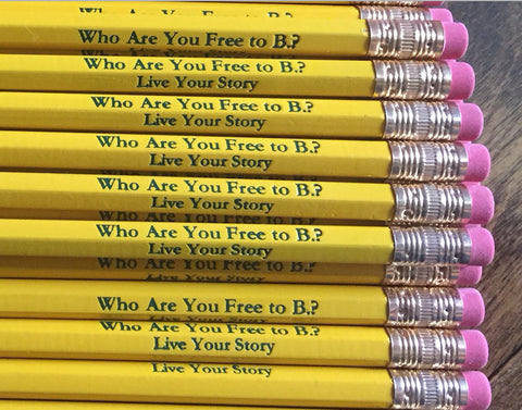 Who are you Free to B.? Pencils - Pack of 10