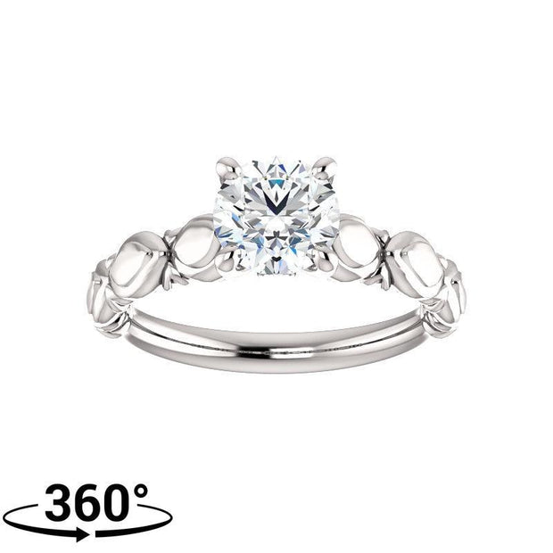 Giacobbe & Company 1 Carat Sculptural-Inspired Engagement Ring in 14K White Gold