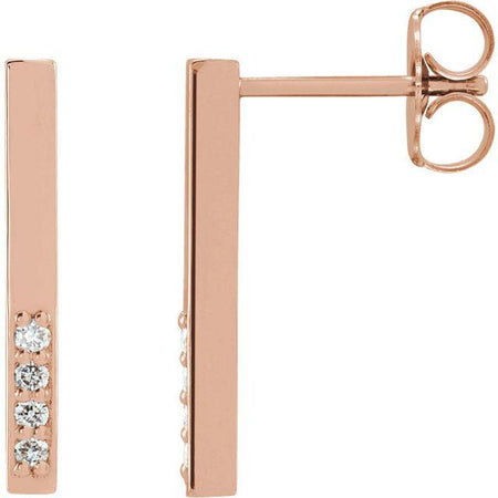 Giacobbe & Company 14k Rose Gold 14K White, Yellow, or Rose Gold .07 CTW Diamond Geometric Dangle Earrings
