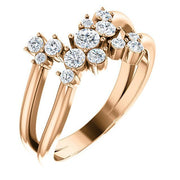 Giacobbe & Company 14k Rose Gold 14K White, Yellow, or Rose Gold 1/2 CTW Diamond Cluster Bypass Ring