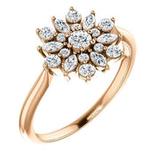 Giacobbe & Company 14k Rose Gold 14K White, Yellow, or Rose Gold 1/2 CTW Diamond Vintage-Inspired Ring
