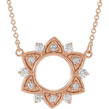 "Giacobbe & Company 14k Rose Gold 14K White, Yellow, or Rose Gold 1/3 CTW Diamond Accented 18"" Necklace"