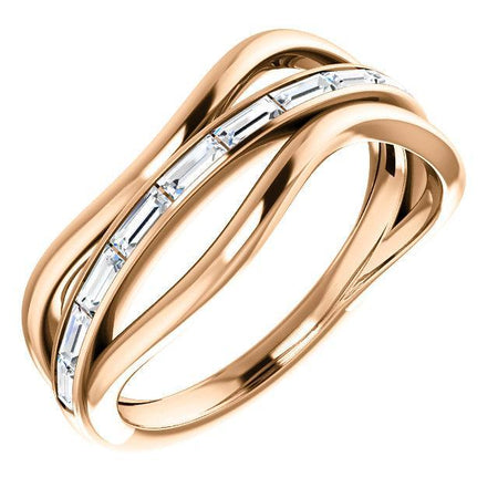 Giacobbe & Company 14k Rose Gold 14K White, Yellow, or Rose Gold 1/3 CTW Diamond Freeform Ring