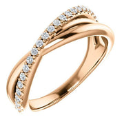 Giacobbe & Company 14k Rose Gold 14K White, Yellow, or Rose Gold 1/5 CTW Diamond Criss-Cross Ring