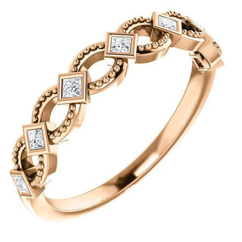Giacobbe & Company 14k Rose Gold 14K White, Yellow, or Rose Gold 1/6 CTW Diamond Stackable Ring