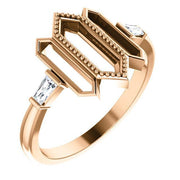 Giacobbe & Company 14k Rose Gold 14K White, Yellow, or Rose Gold 1/8 CTW Diamond Geometric Ring