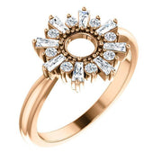 Giacobbe & Company 14k Rose Gold 14K White, Yellow, or Rose Gold 3/8 CTW Diamond Circle Ring