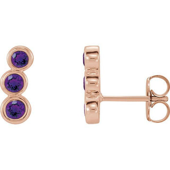 Giacobbe & Company 14k Rose Gold 14K White, Yellow, or Rose Gold Amethyst Ear Climbers