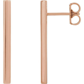 Giacobbe & Company 14k Rose Gold 14K White, Yellow, or Rose Gold Bar Earrings