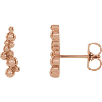 Giacobbe & Company 14k Rose Gold 14K White, Yellow, or Rose Gold Beaded Ear Climbers
