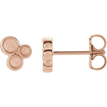 Giacobbe & Company 14k Rose Gold 14K White, Yellow, or Rose Gold Geometric Circle Stud Earrings